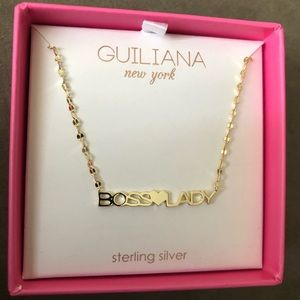 """Gold Plated Sterling Silver """"Boss Lady"""" Necklace"""